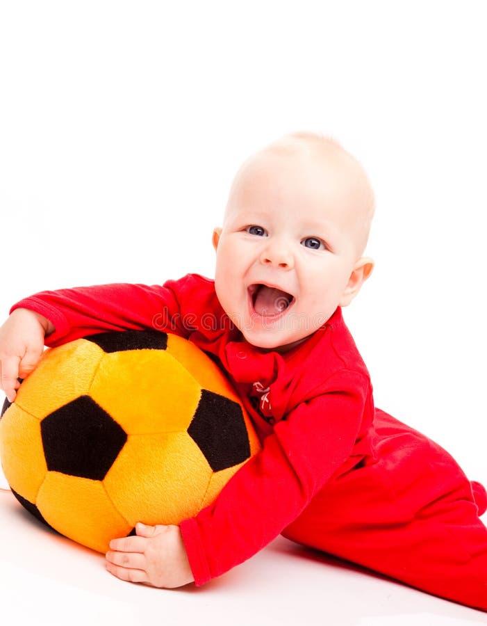 dziecko piłka nożna obraz stock