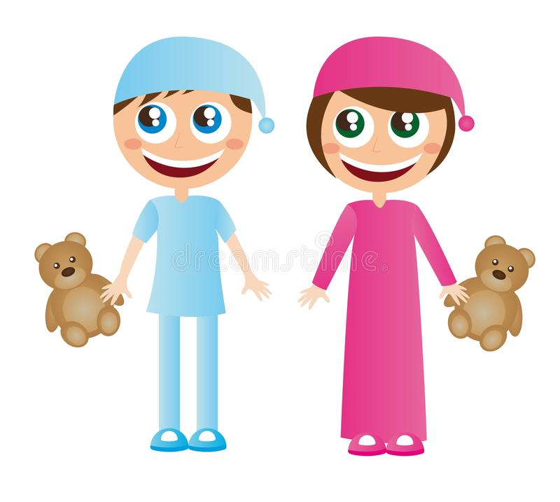 dziecko piżamy ilustracji
