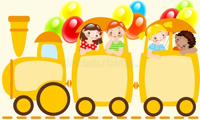 dziecko pociąg s royalty ilustracja