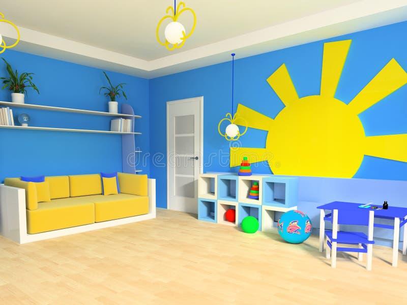 dziecko pokój s ilustracja wektor