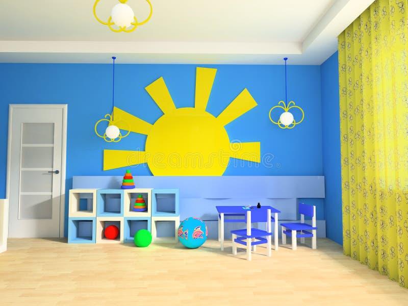 dziecko pokój s royalty ilustracja