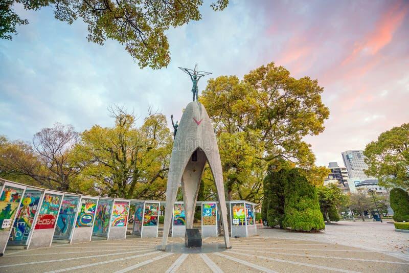 Dziecko pokoju zabytek w Hiroszima pokoju Memorial Park, Japonia zdjęcie royalty free