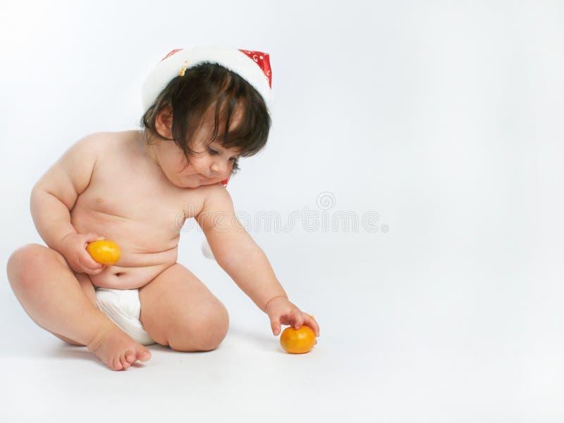 dziecko pomarańcze fotografia stock