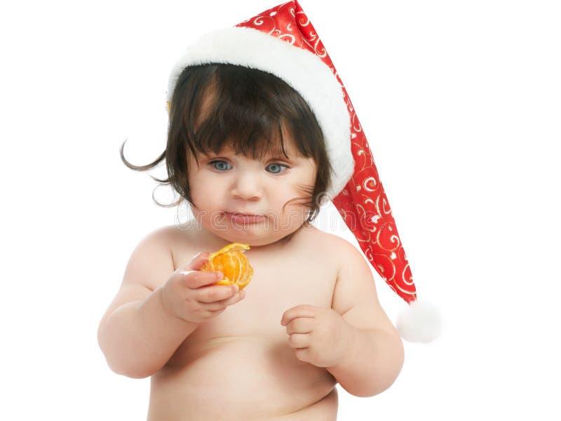 dziecko pomarańcze zdjęcie royalty free