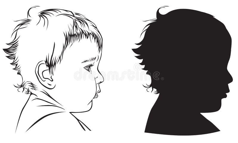 dziecko profil ilustracji