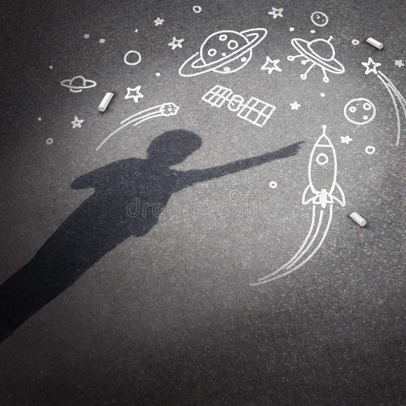 Dziecko przestrzeni sen ilustracja wektor