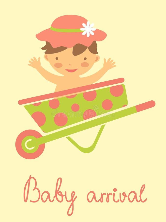 Download Dziecko przyjazdowa karta ilustracja wektor. Ilustracja złożonej z wiosna - 28957350