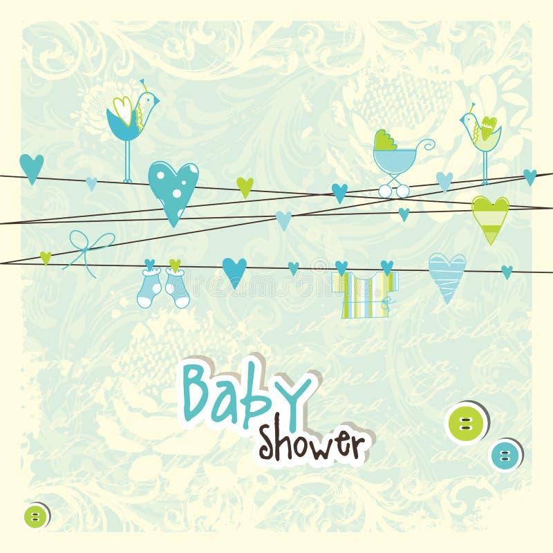 Dziecko przyjazdowa karta - dziecko prysznic karta ilustracja wektor