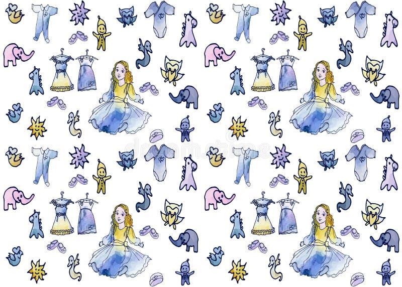 Dziecko punktu dall1 bezszwowy karciany mini royalty ilustracja