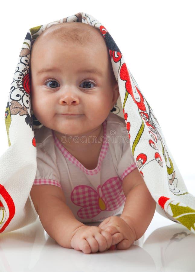 dziecko ręcznik Wiek 6 miesięcy obrazy royalty free