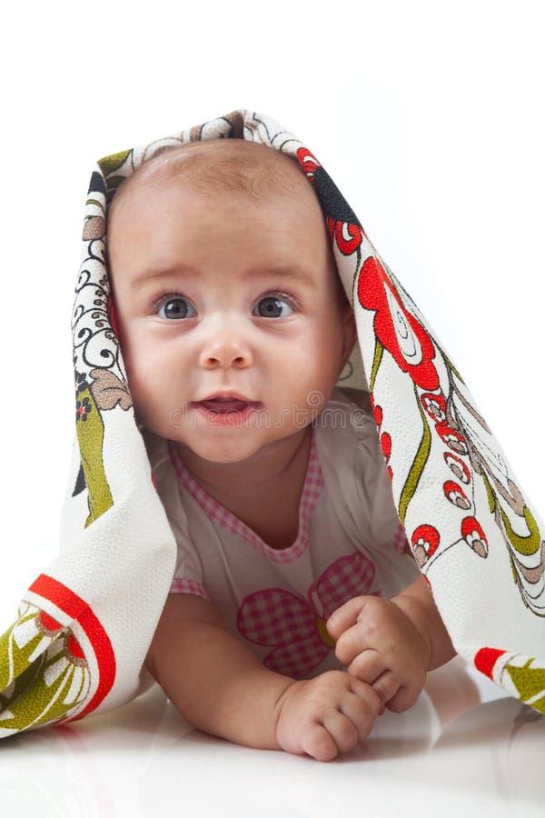 dziecko ręcznik Wiek 6 miesięcy obraz royalty free