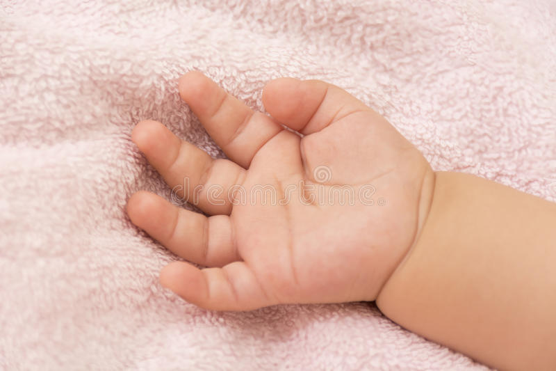 Dziecko ręka zdjęcia royalty free