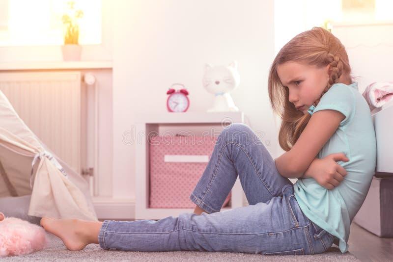 Dziecko rodziców konflikt zdjęcia royalty free