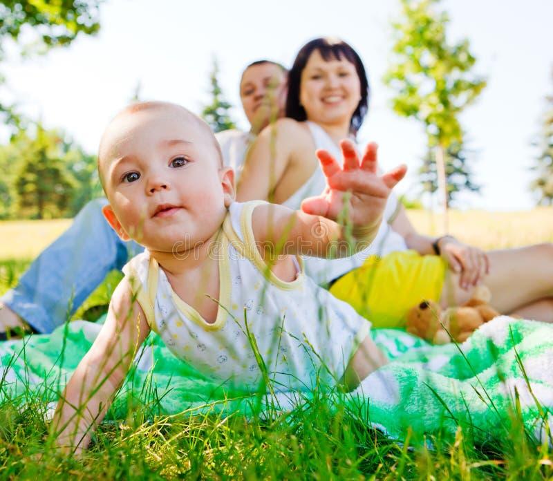 dziecko rodzice zdjęcie stock
