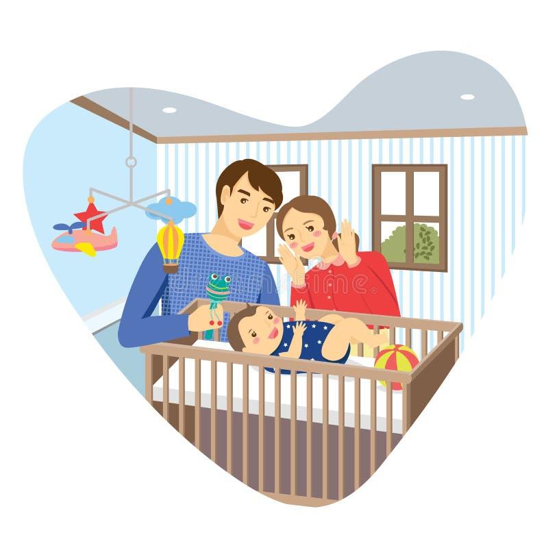 Dziecko rodzinny pokój obraz royalty free