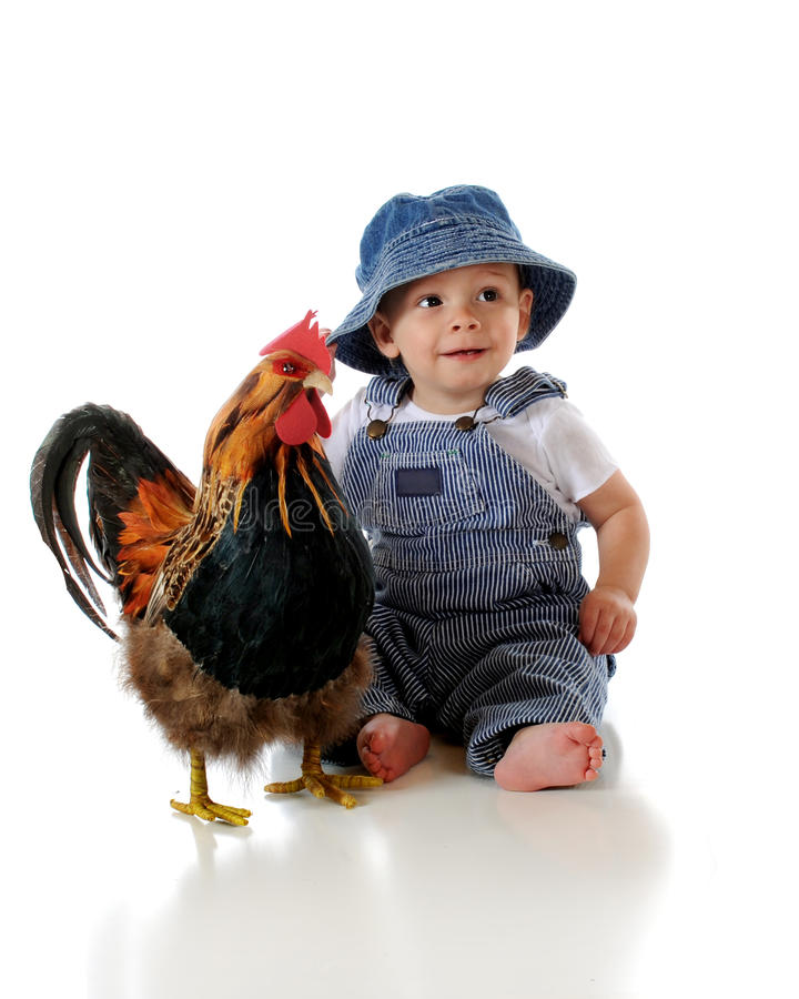 dziecko rolnik fotografia stock