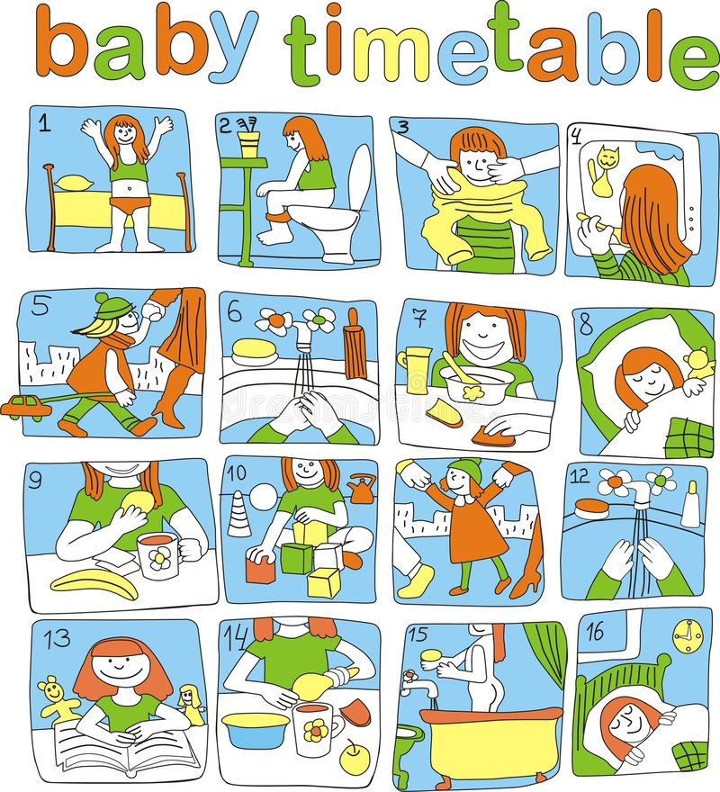 dziecko rozkład zajęć obrazy stock