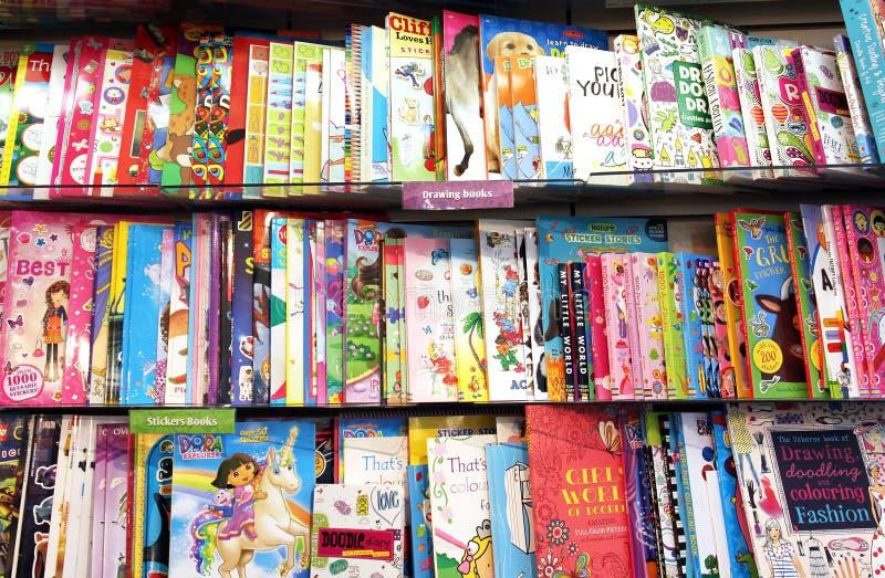 Dziecko rysunkowe książki obrazy stock