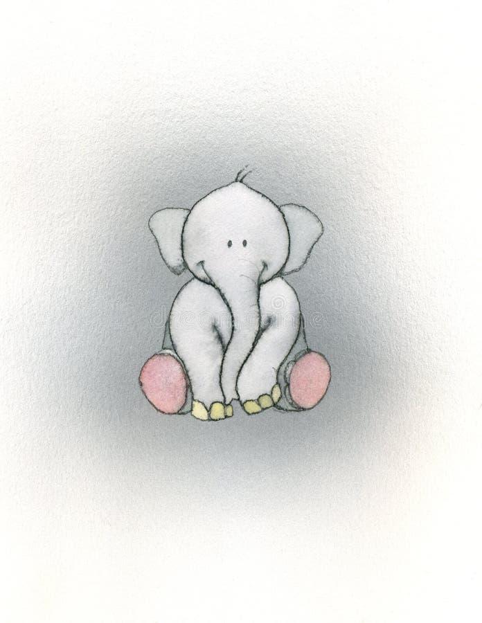 dziecko słoń royalty ilustracja