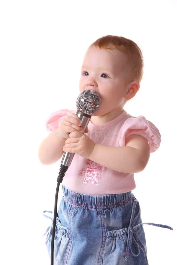 dziecko słucha muzykę fotografia stock
