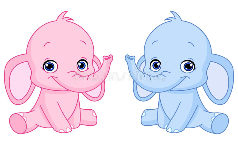 Download Dziecko słonie ilustracja wektor. Obraz złożonej z klamerka - 17770241