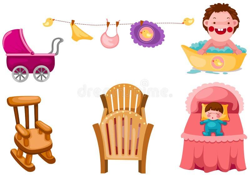 dziecko set ilustracja wektor