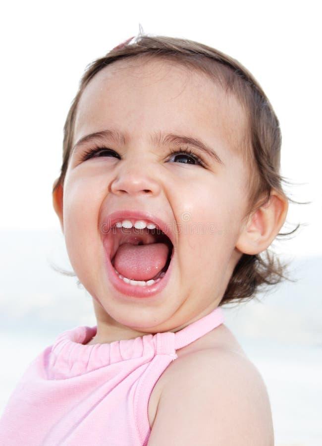 dziecko się śmiać obrazy royalty free