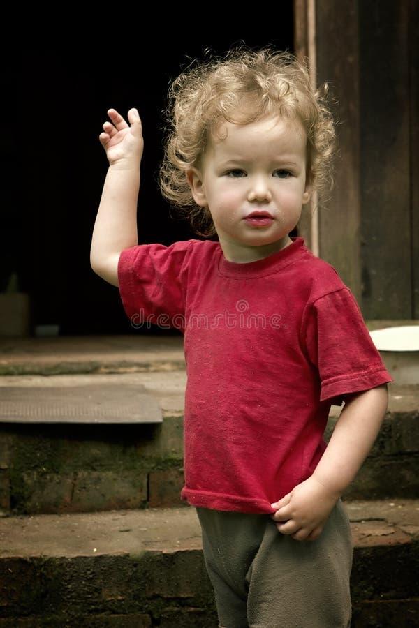 dziecko się ciemności. obrazy royalty free