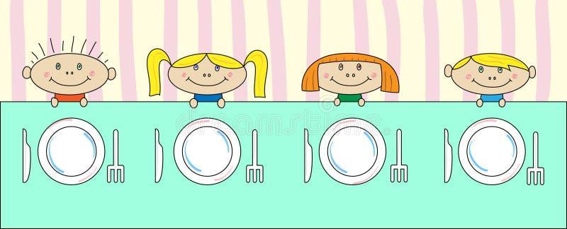 dziecko stół ilustracja wektor