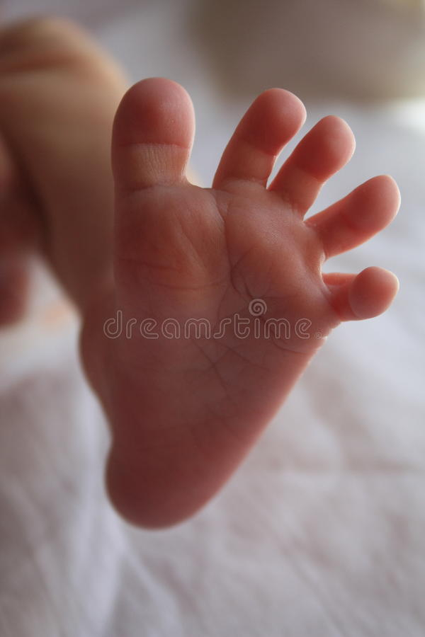 Dziecko stopa obrazy royalty free