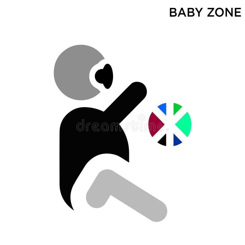 Dziecko strefy ikona ilustracja wektor