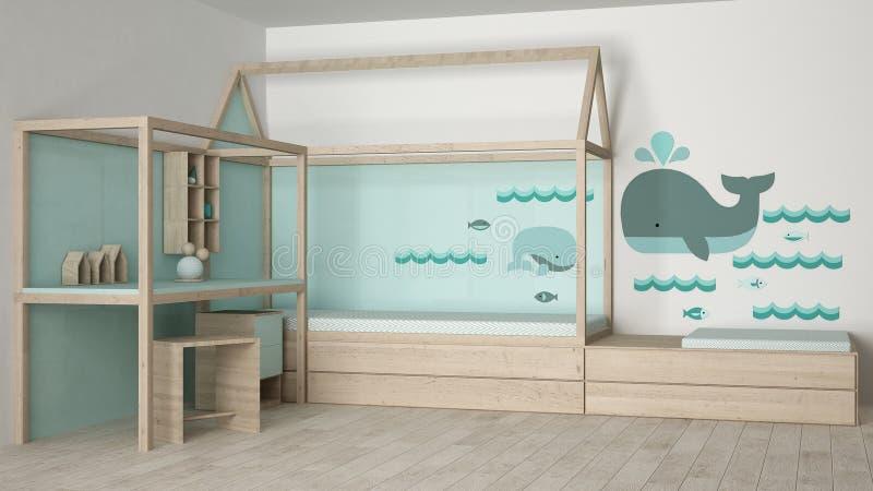 Dziecko sypialni projekt ilustracji