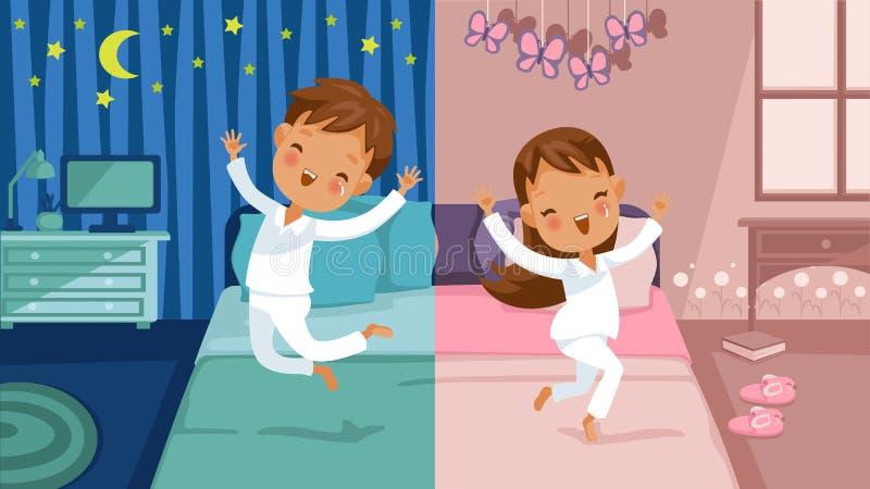 Dziecko sypialnia ilustracji