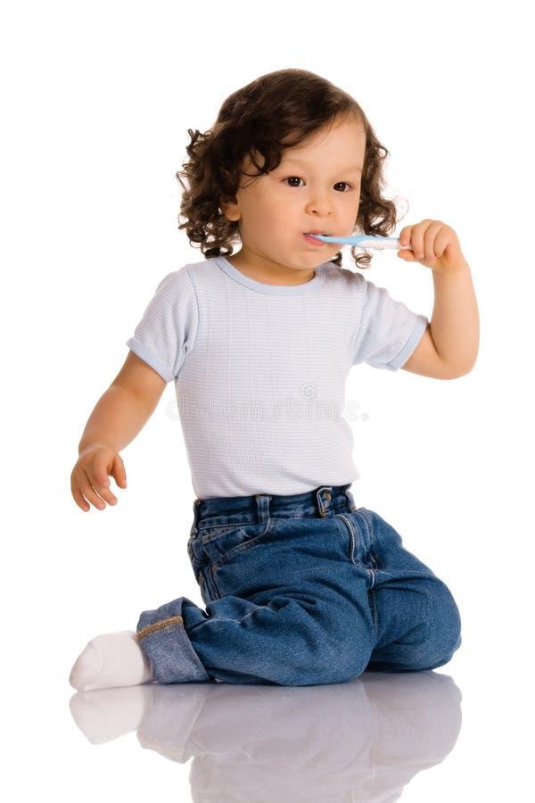 dziecko szczoteczkę do zębów fotografia royalty free