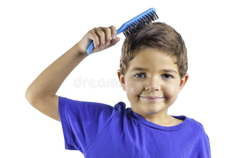 Dziecko Szczotkuje Włosy Zdjęcia Stock