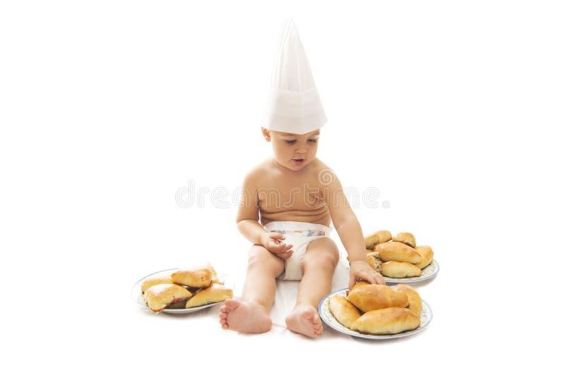 dziecko szef kuchni fotografia stock