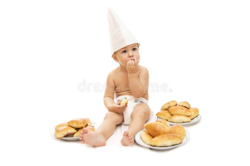 dziecko szef kuchni zdjęcia stock