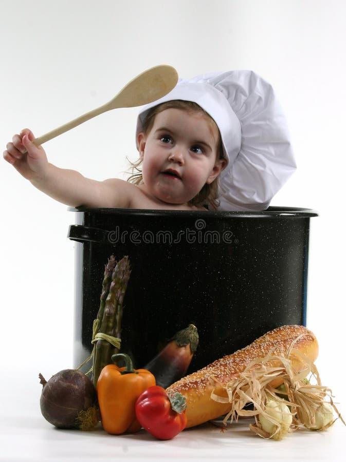 dziecko szefa kuchni zioło obrazy royalty free