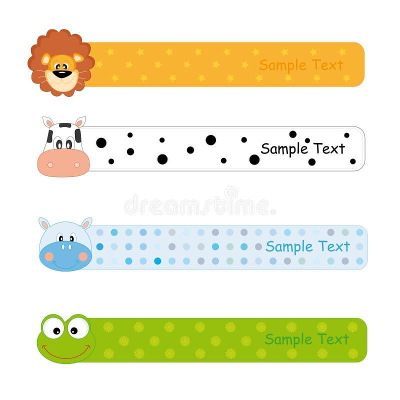 dziecko sztandary ilustracji