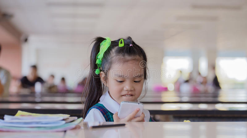 Dziecko sztuki telefon obraz stock
