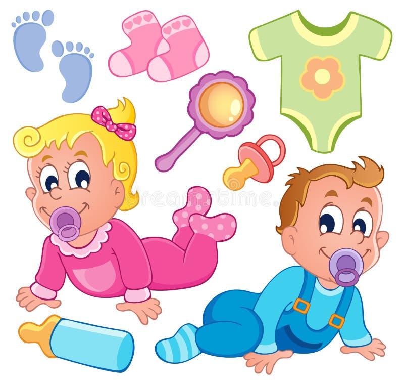 Dziecko tematu kolekcja 2 ilustracji