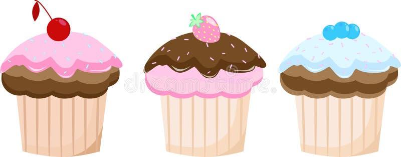 Dziecko torta ustalony wyśmienicie ilustracji
