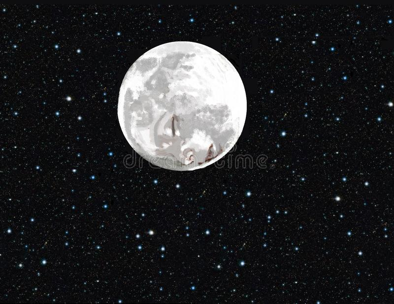 Dziecko twarz na księżyc zdjęcie royalty free