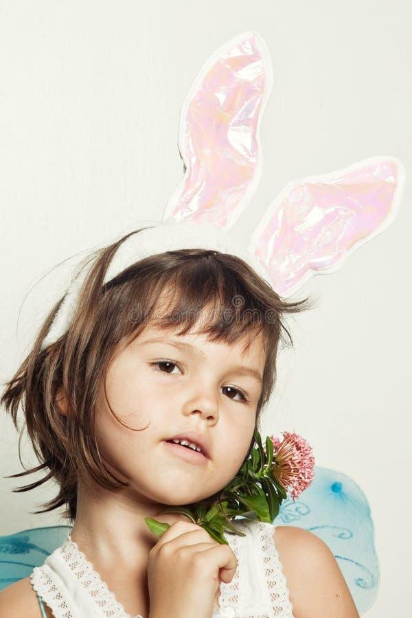 Dziecko ubiera up w kostiumowej czarodziejce zdjęcie stock