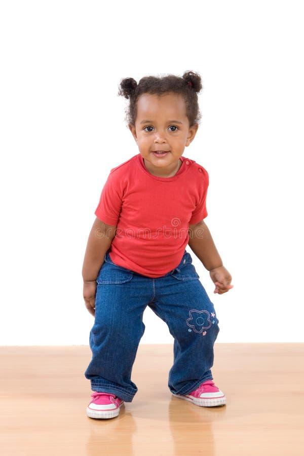 dziecko uroczy afrykański taniec obraz stock