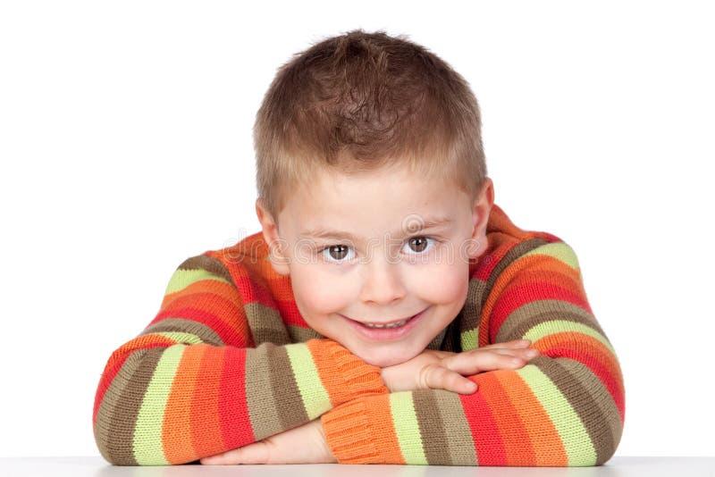 dziecko uroczy blond włosy zdjęcia royalty free