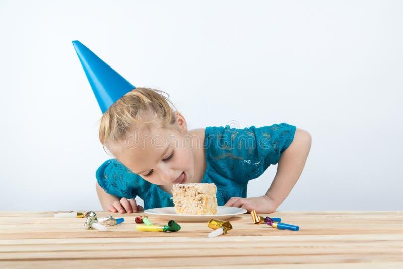 Dziecko urodziny Tort wakacyjne urodzinowe karty zdjęcie stock