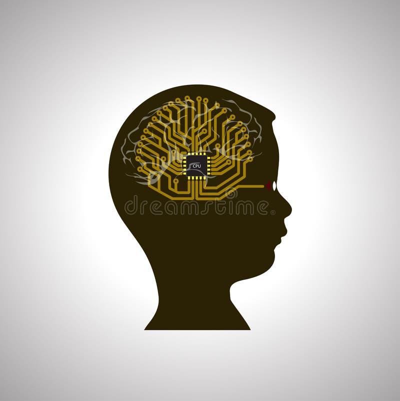 Dziecko w świacie technologie informacyjne ilustracji