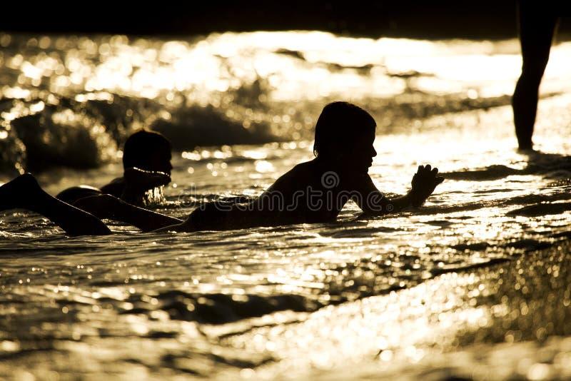 Dziecko w wodzie fotografia royalty free