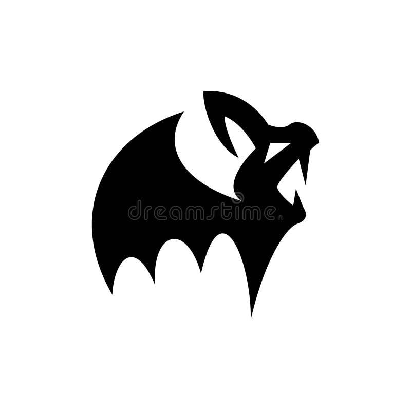 Dziecko wampira, małej i strasznej nietoperz sylwetka dla atrybutów Halloween, royalty ilustracja